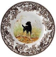 Woodland Spode Dinner Black Lab