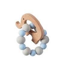 Blue Elephant Wood Teether