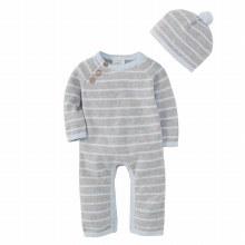 Blue/Grey Knit Gift Set
