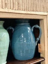 Blue Handthrown Jar
