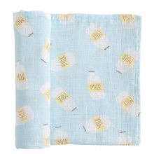 Blue Milk Swaddle Blanket