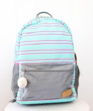 Mint Stripe Backpack
