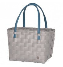 Recycled Plastic Color Block Bag - Brushed Grey