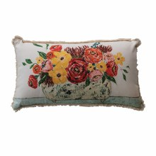 Floral Lumbar Pillow