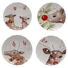 Casafina Deer Friends White Salad Set Of 4