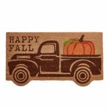 Pumpkin Truck Door Mat