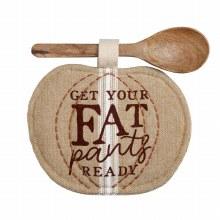 Fat Pants Pot Holder/Spoon Set