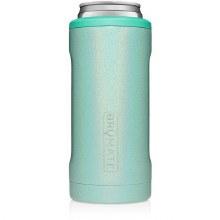 Brumate Slim Can Cooler Glitter Aqua