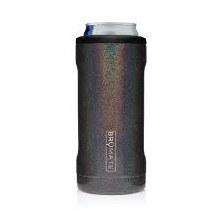 Brumate Slim Can Cooler Glitter Charcoal