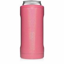 Brumate Slim Can Cooler Glitter Pink