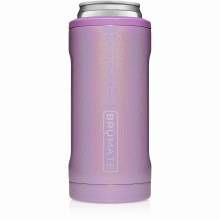 Brumate Slim Can Cooler Glitter Violet