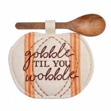 Gobble Pot Holder/Spoon Set