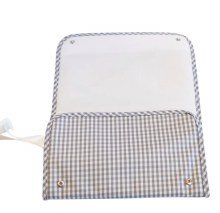 Gingham Gray Changing Pad