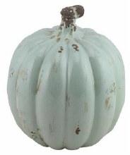 """Aqua Stoneware Pumpkin 11"""""""