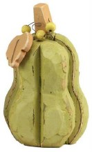 "Wooden Gourd Green Mini 9"" Tall"