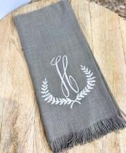 Taupe Fringe Towel H