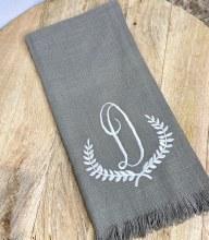 Taupe Fringe Towel D