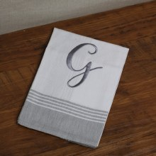Grey Stripe Hand Towel G