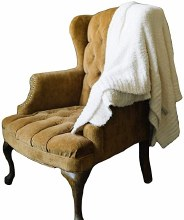 Bamboni Home Throw Ivory