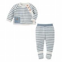 Blue Stripe Knit 2 pc Set