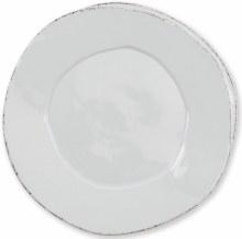 Vietri Dinnerware Lastra Light Gray Euro Dinner Plate