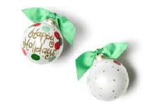 Layered Dot Happy Holidays Ornament