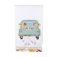 Mr & Mrs Car Tea Towel