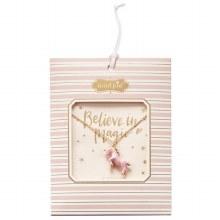 Unicorn Necklace Pink