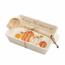 Pumpkin Baker & Spoon Set