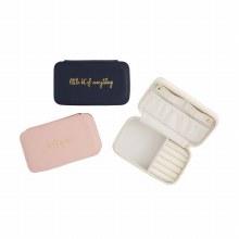 Blush Rectangle Jewelry Case