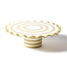 Neutral Ruffle Cake Stand
