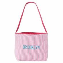 Seersucker Easter Basket Blue OR Pink