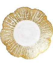 Rufolo Gold Shallow Bowl