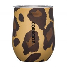 Corkcicle 12oz Stemless Luxe Leopard