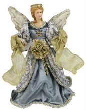 Blue and Gold Fabric Angel
