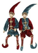 """Elf Red and Teal 18"""""""