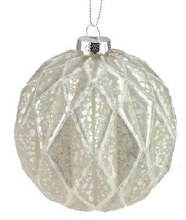 Silver Diamond Glass Ball