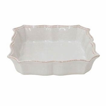 Casafina Serve Ware Impressions White Square Baker