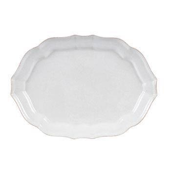 Impressions Medium White Oval Platter