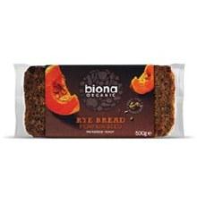 Biona Org Rye Bread with Pumpkin 500g