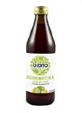 Biona Org Kombucha Ginger Lime 330ml