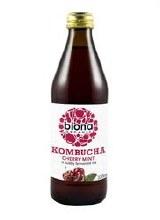 Biona Org Kombucha Cherry Mint 330ml