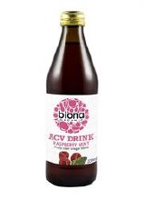 Biona Org ACV Drink Raspberry Mint 330ml