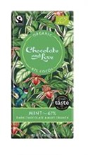 Chocolate and Love Peppermint Crunch 67% 80g