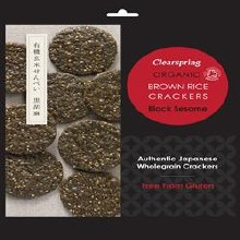 Clearspring Org Brown Rice Crackers 40g