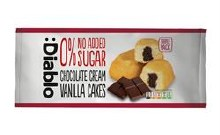 Diablo Sugar Free Chocolate & Vanilla Cream cake 150g