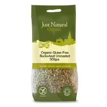 Just Gluten Free Org GF Buckwheat Unroasted 500g