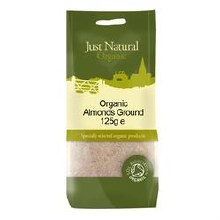 Just Natural Organic Org Almonds Ground 125g