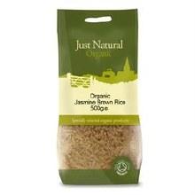 Just Natural Organic Org Jasmine Rice Brown 500g