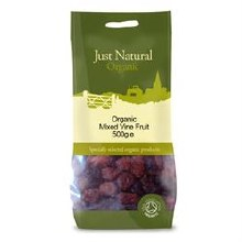 Just Natural Organic Org Mixed Vine Fruit 500g